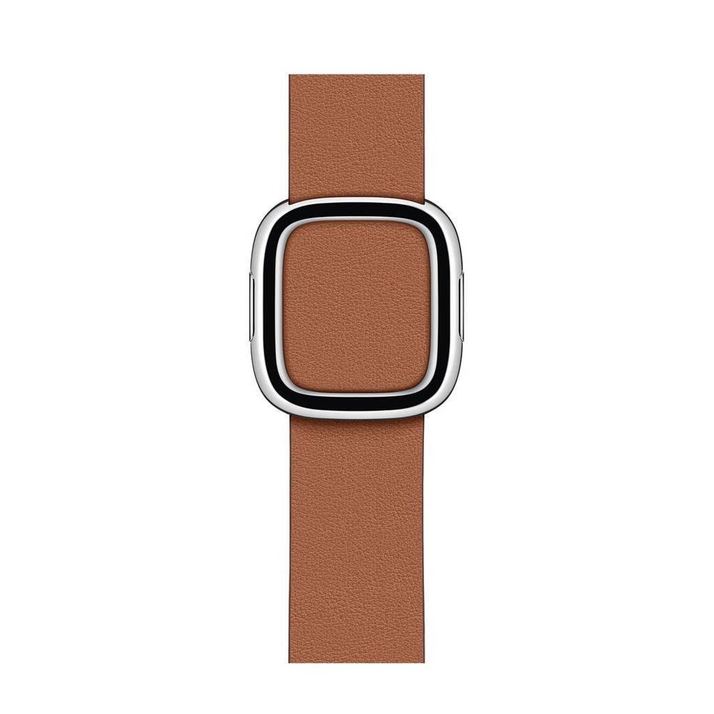 Apple bandje 40mm Saddle Brown Moder Buckle (Bruin) - Small
