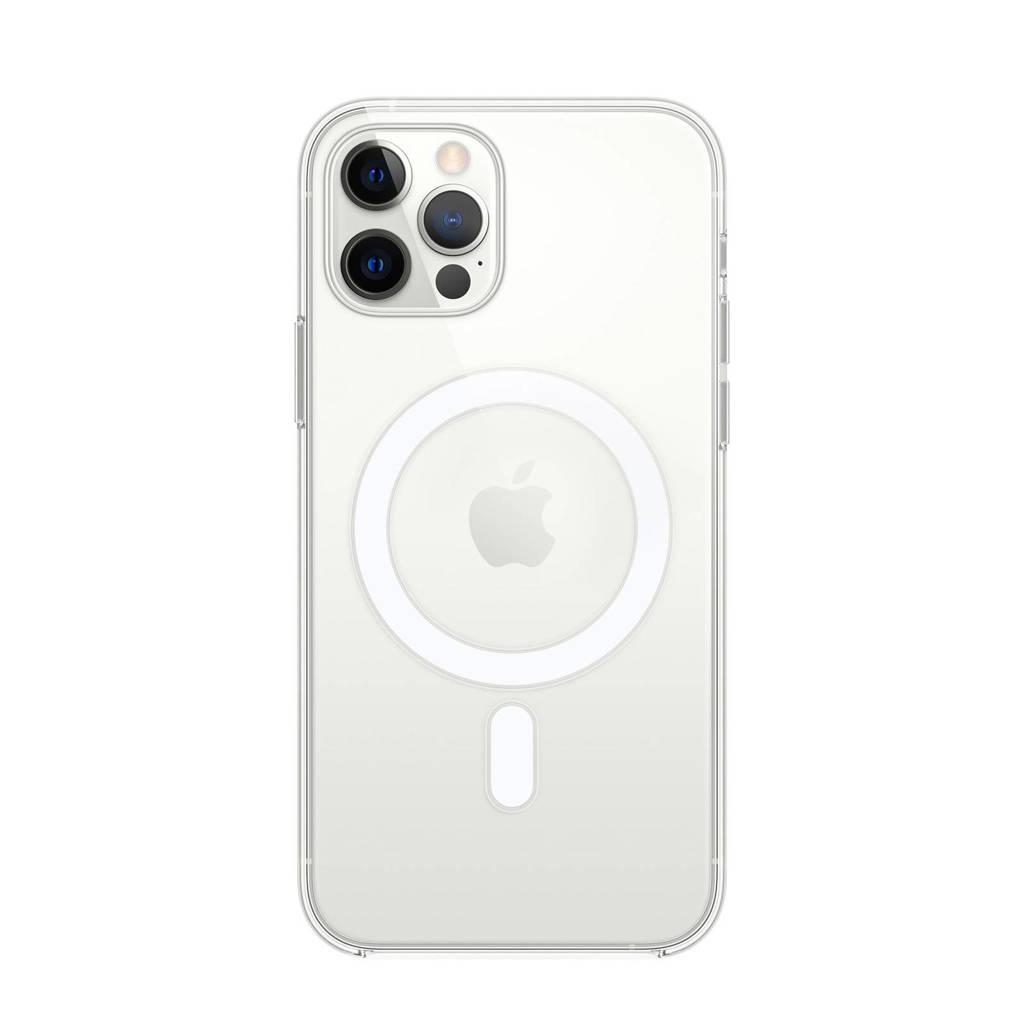 Apple iPhone 12 | 12 P transparante telefoonhoes iPhone 12 (Pro) met MagSafe, Transparant
