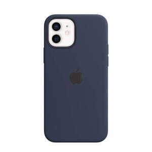 siliconen telefoonhoes iPhone 12/12 Pro (Donkerblauw)