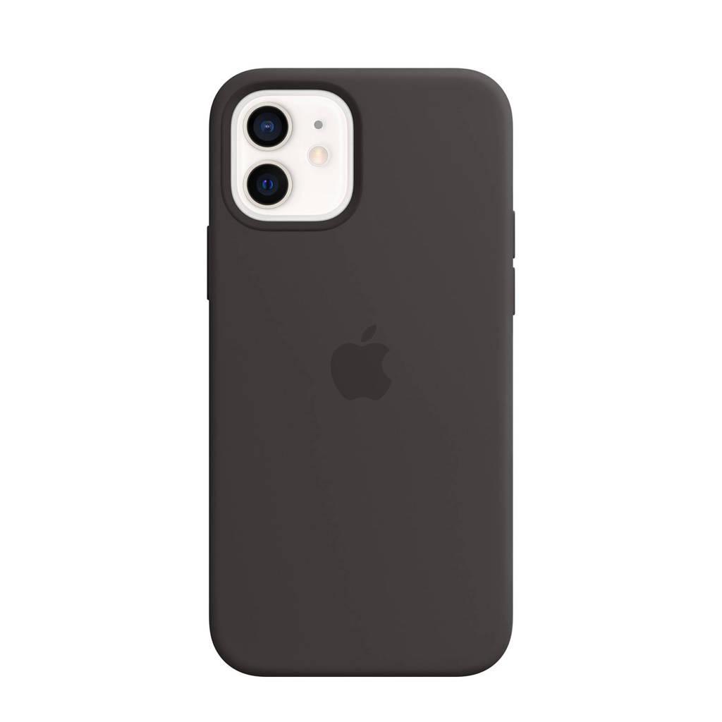 Apple siliconen telefoonhoes iPhone 12/12 Pro (Zwart)