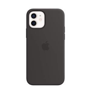 siliconen telefoonhoes iPhone 12/12 Pro (Zwart)