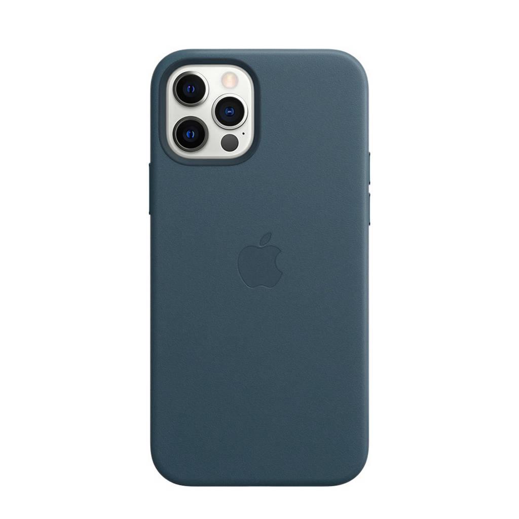 Apple leren telefoonhoes iPhone 12/12 Pro (Blauw)