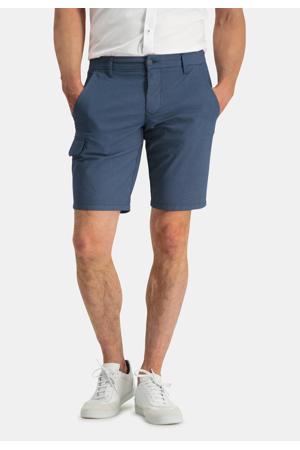 regular fit cargo short grijsblauw