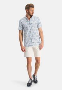 State of Art regular fit overhemd met all over print wit/kobalt, Wit/kobalt