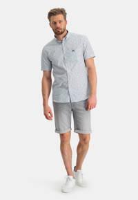 State of Art regular fit overhemd met all over print wit/grijsblauw, Wit/grijsblauw