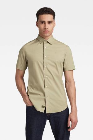 slim fit overhemd met biologisch katoen lichtgroen