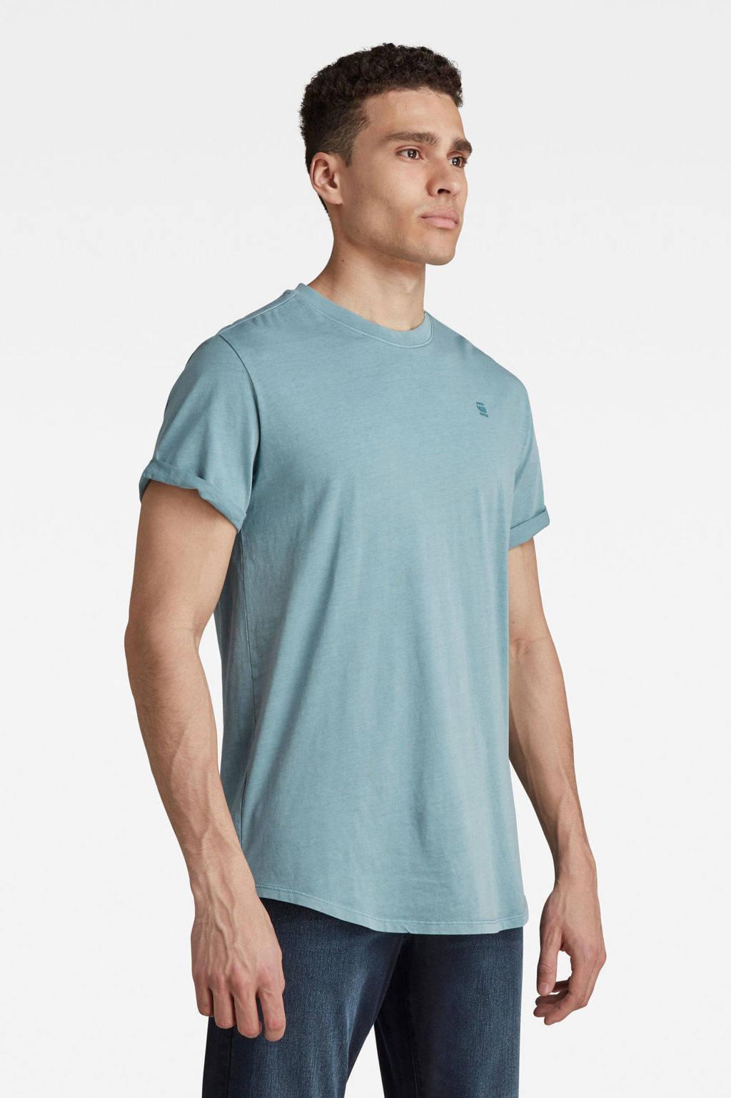 G-Star RAW T-shirt van biologisch katoen light bright nickel, Light bright nickel