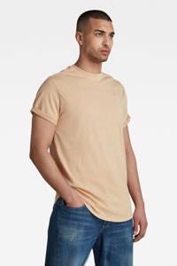 G-Star RAW T-shirt Lash van biologisch katoen beige, Beige