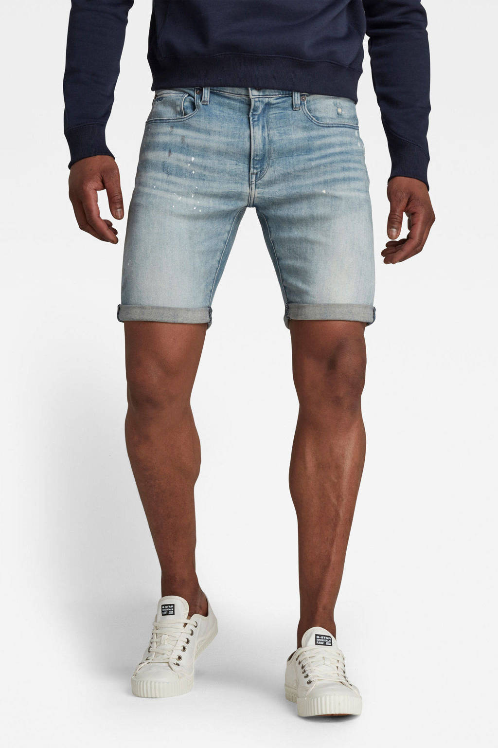 G-Star RAW 3301 slim fit jeans short vintage nassau destroyed, Vintage nassau destroyed