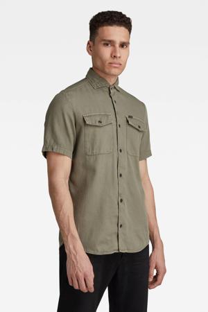 regular fit overhemd van biologisch katoen groen