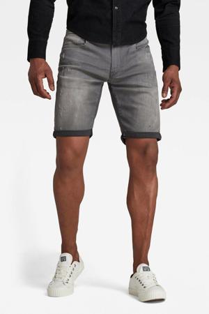 3301 slim fit jeans short grijs