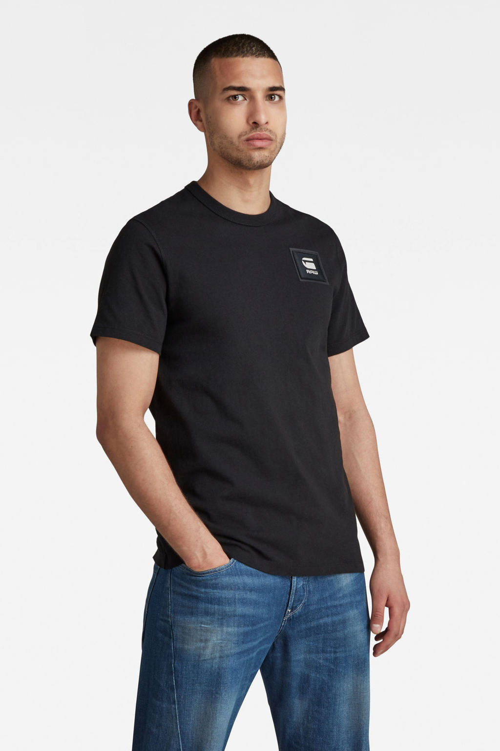 G-Star RAW T-shirt van biologisch katoen zwart, Zwart