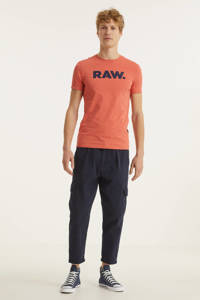 G-Star RAW T-shirt van biologisch katoen dull berry, Dull berry