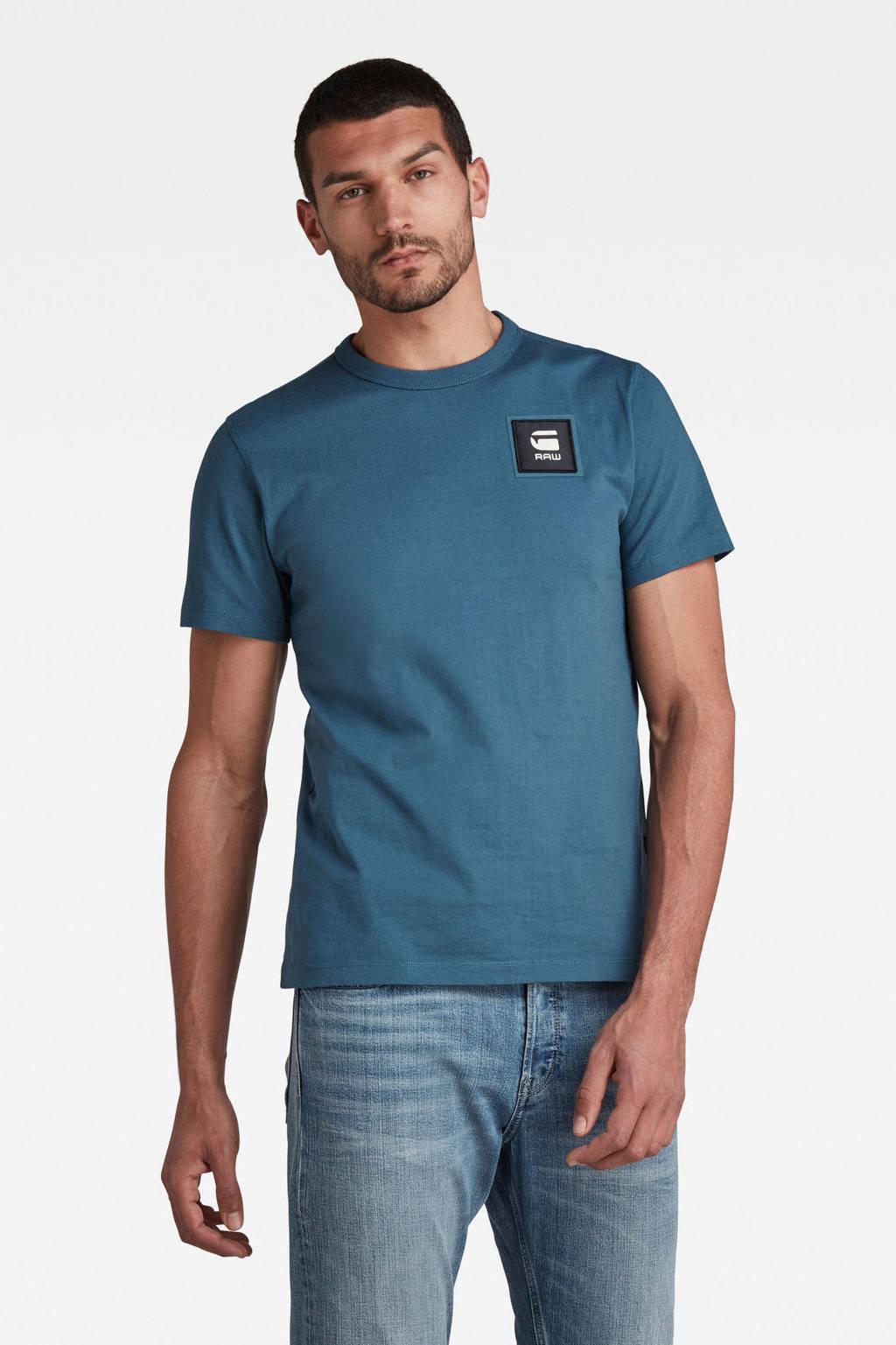 G-Star RAW T-shirt van biologisch katoen bright nickel, Bright nickel