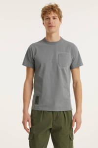 G-Star RAW T-shirt Stitch van biologisch katoen charcoal, Charcoal