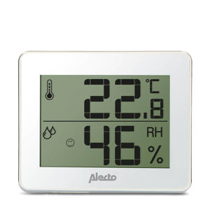WS-55 thermometer/hygrometer - wit/zilver
