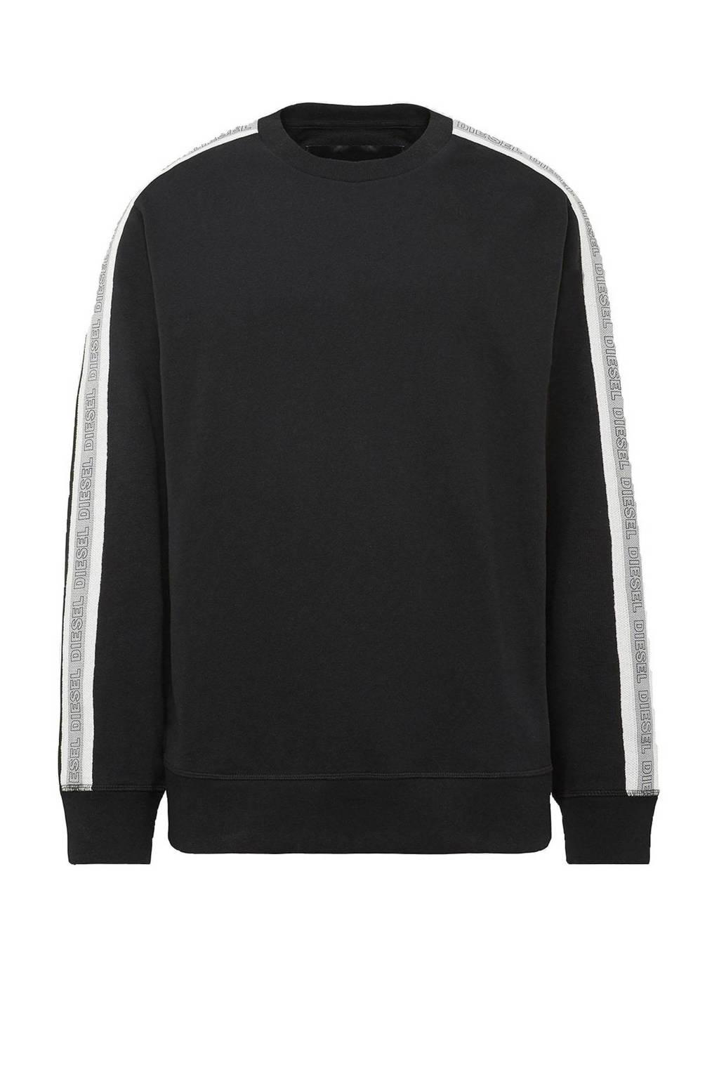 Diesel sweater Willy zwart, Zwart
