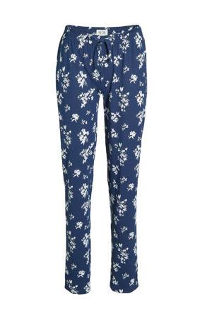 pyjama met bloemen donkerblauw