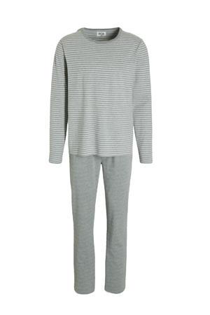 pyjama met strepen grijs/wit