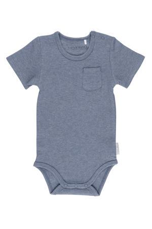 newborn baby romper korte mouw blauw