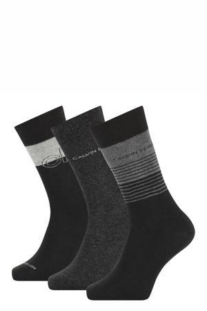sokken zwart/antraciet (set van 3)