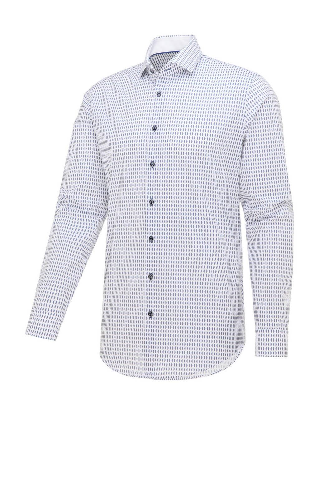 Blue Industry slim fit overhemd met all over print lichtblauw, Lichtblauw