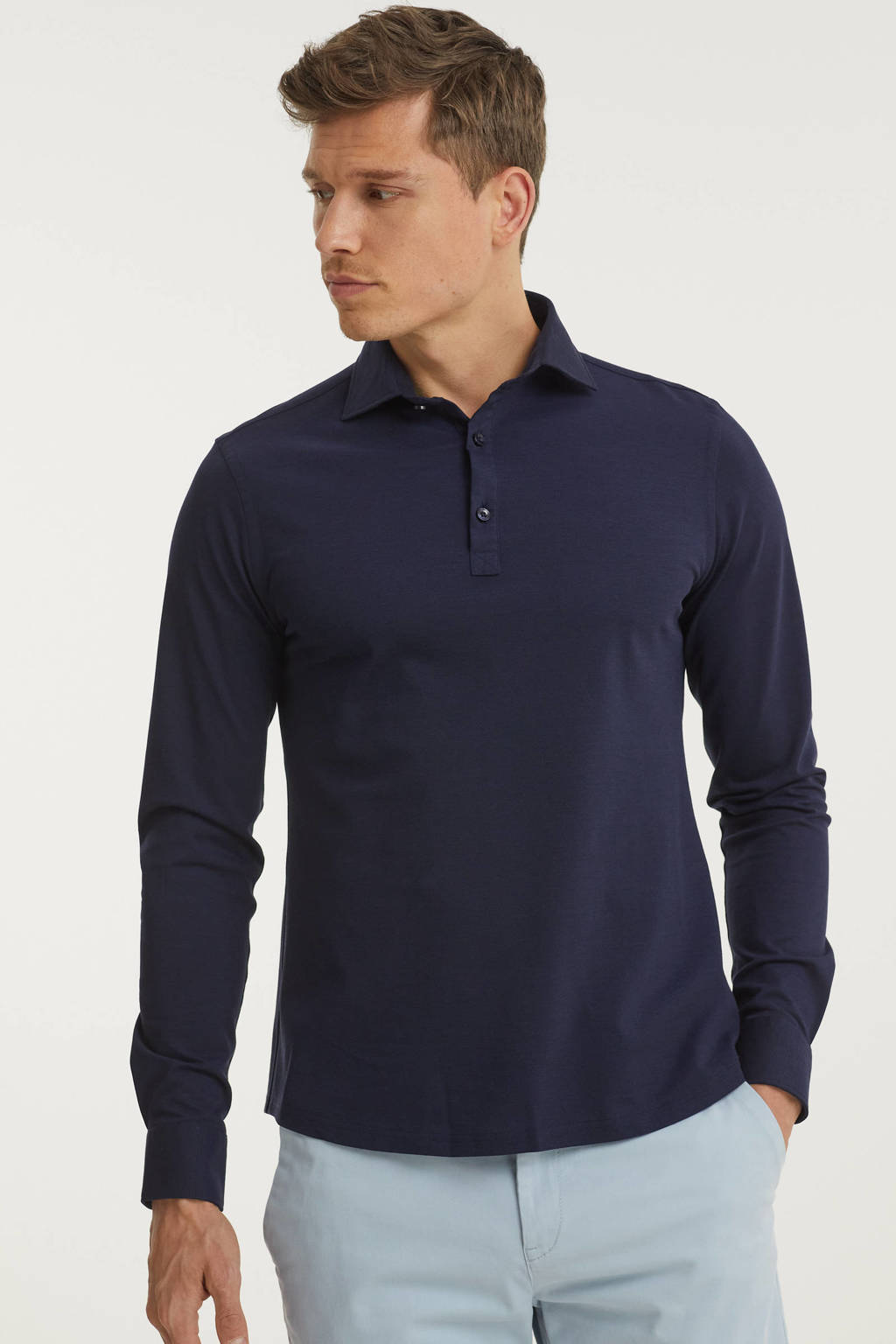 Blue Industry regular fit polo donkerblauw, Donkerblauw