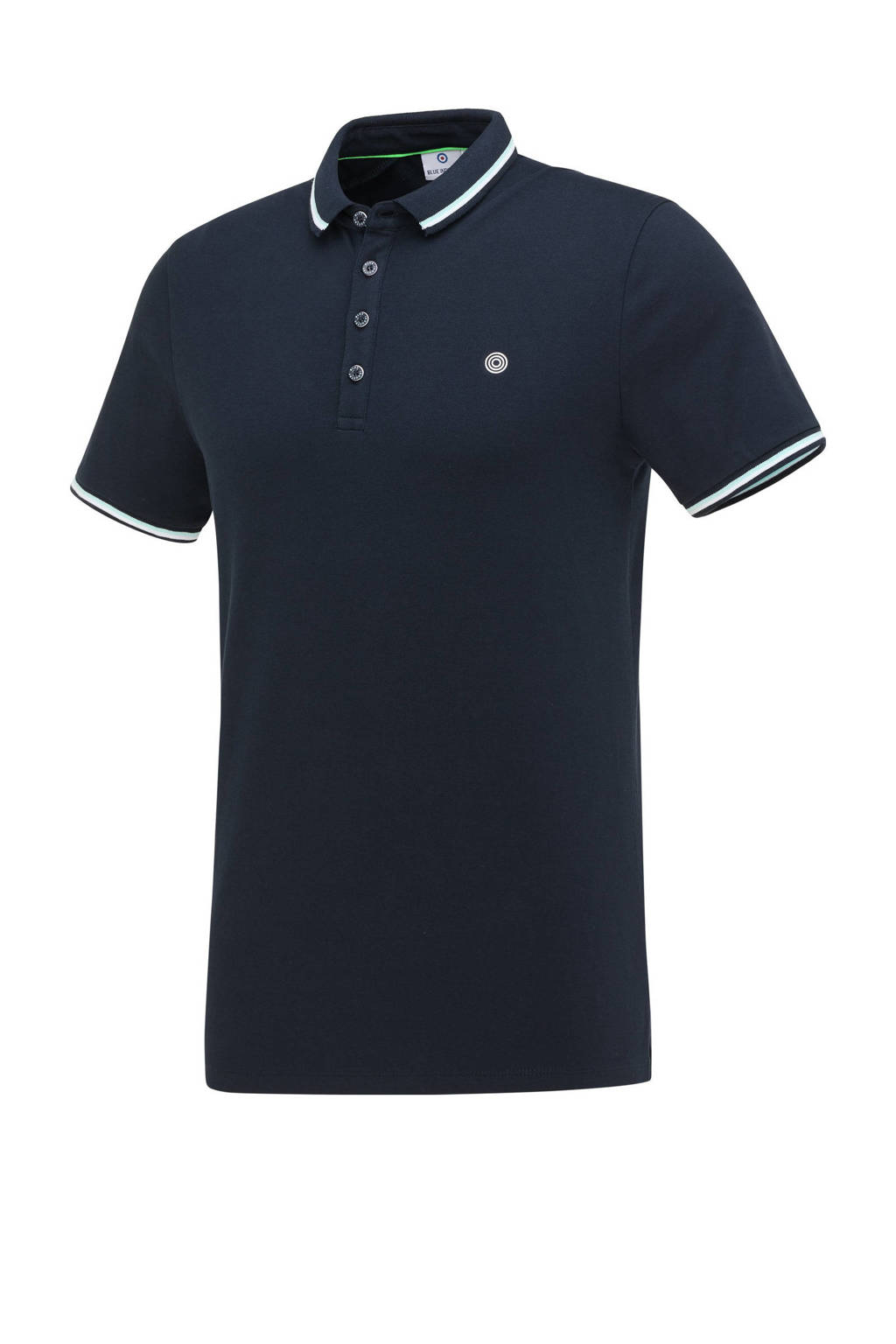 Blue Industry slim fit polo donkerblauw, Donkerblauw