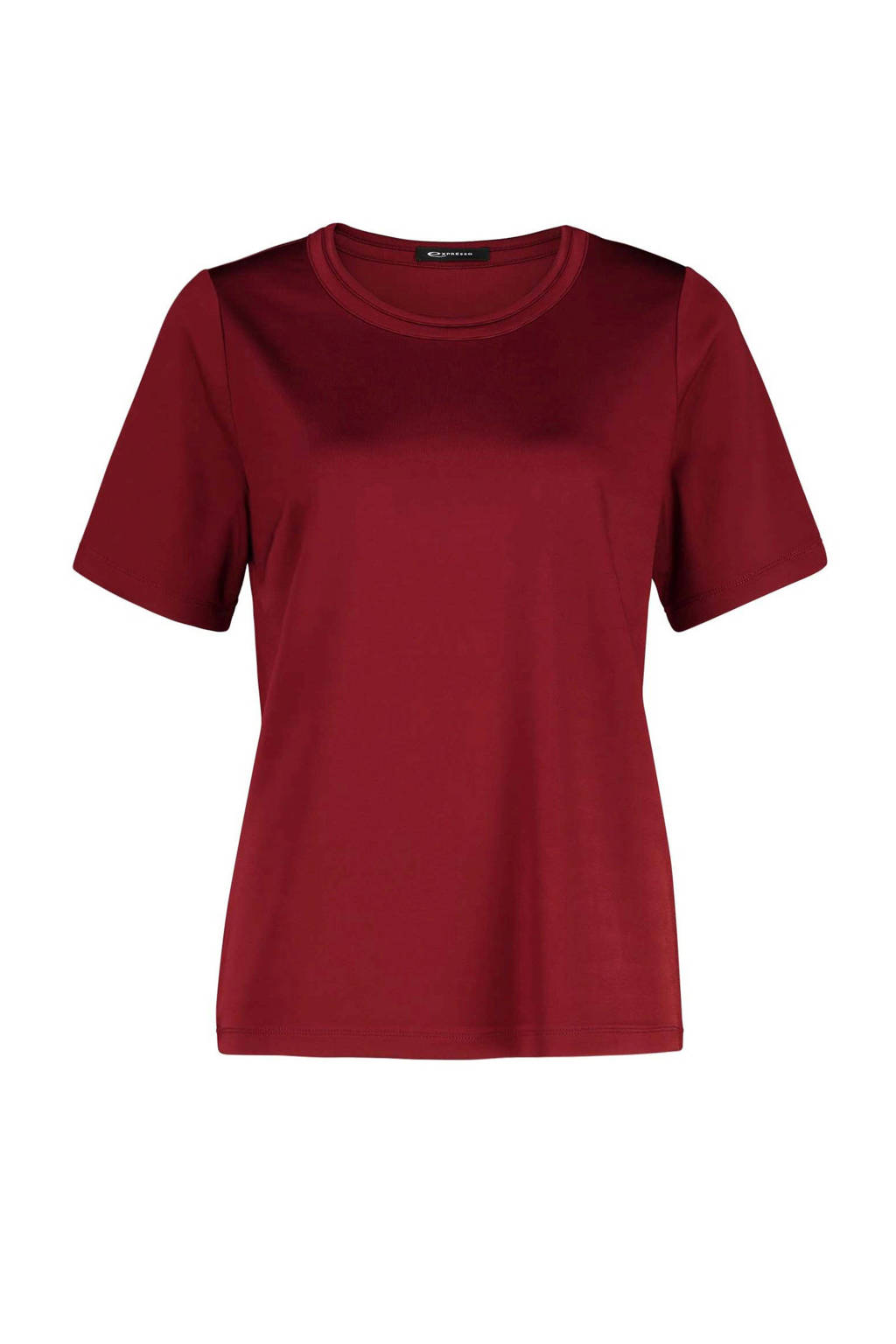 Expresso geweven top Kaline rood, Rood