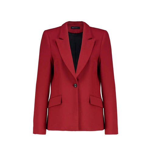 Expresso blazer robijn rood Kendra