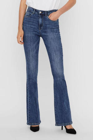high waist flared jeans VMSIGA medium blue denim