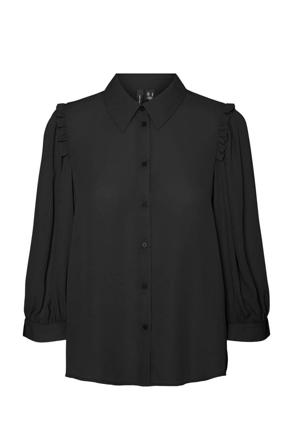 VERO MODA blouse VMPOEL zwart, Zwart