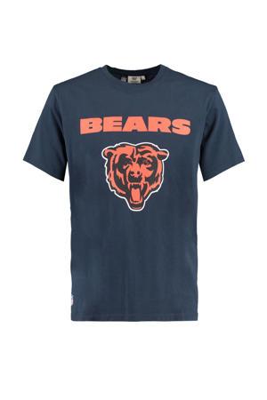 T-shirt Edge met printopdruk donkerblauw/oranje