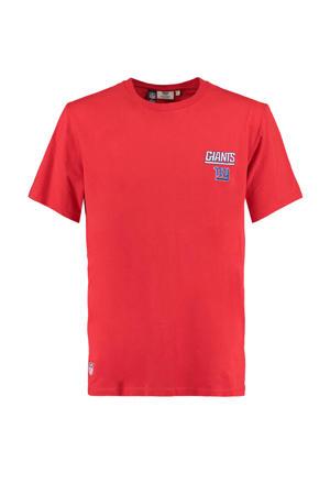 T-shirt Edge met printopdruk rood