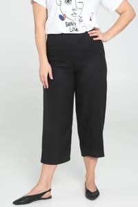 Paprika straight fit broek zwart, Zwart