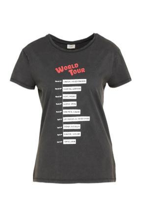 T-shirt JDYELINA met printopdruk zwart