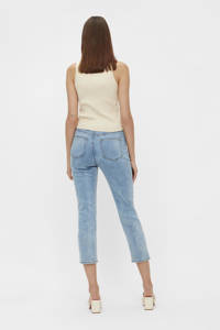 OBJECT cropped skinny jeans OBJWIN light blue denim, Light blue denim