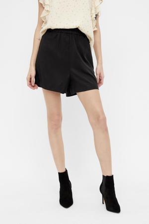 high waist loose fit short OBJTILDA zwart