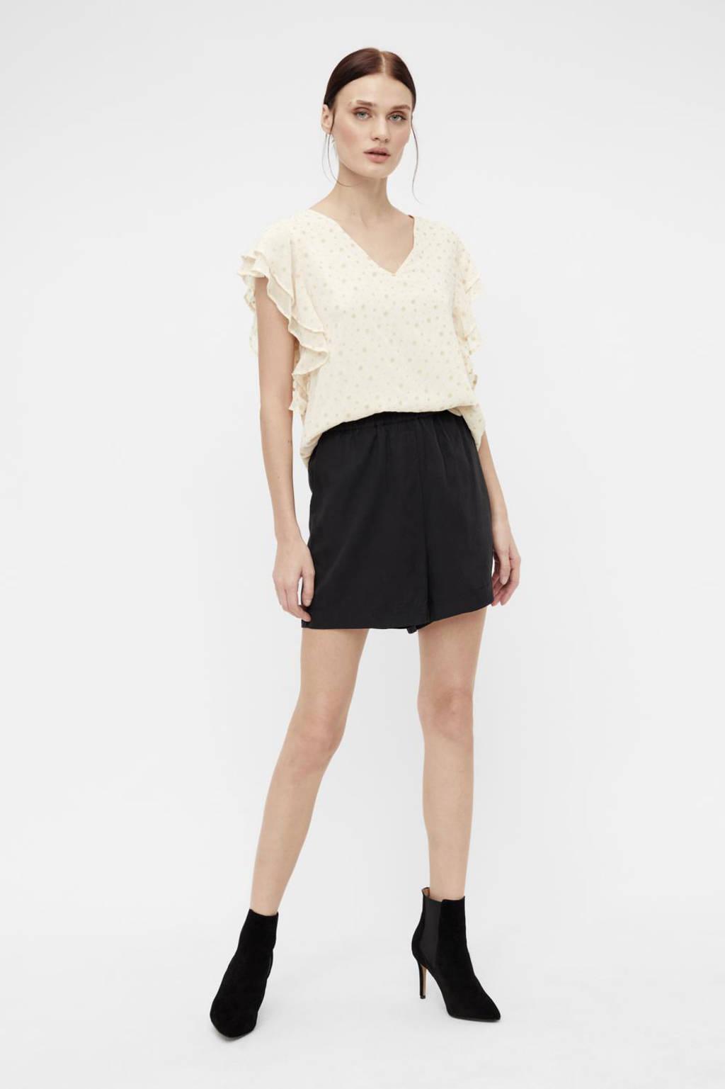 OBJECT high waist loose fit short OBJTILDA zwart, Zwart