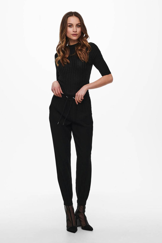ONLY tapered fit broek ONLKELDA-EMERY zwart, Zwart