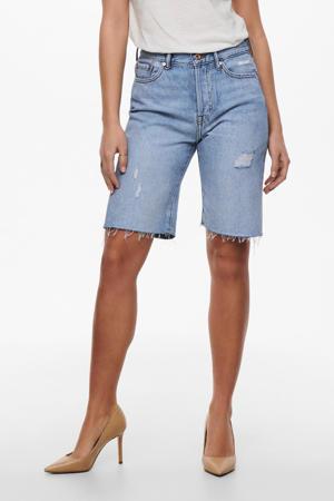 high waist jeans short ONLFINE  light blue denim