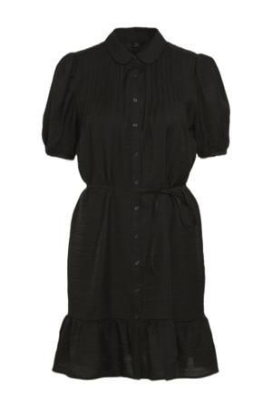 blousejurk ONLDELLA met volant zwart