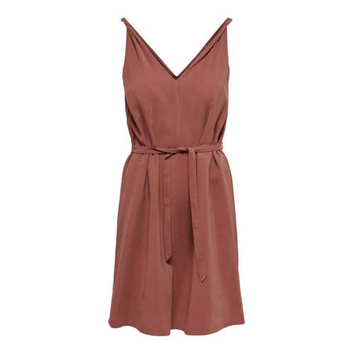ONLY jurk ONLARIS roodbruin