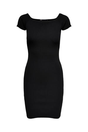 fijngebreide jurk ONLLILLI  zwart