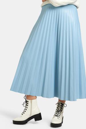 imitatieleren rok Lexie lichtblauw