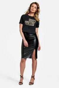 Eksept by Shoeby imitatieleren rok PU SKIRT zwart, Zwart
