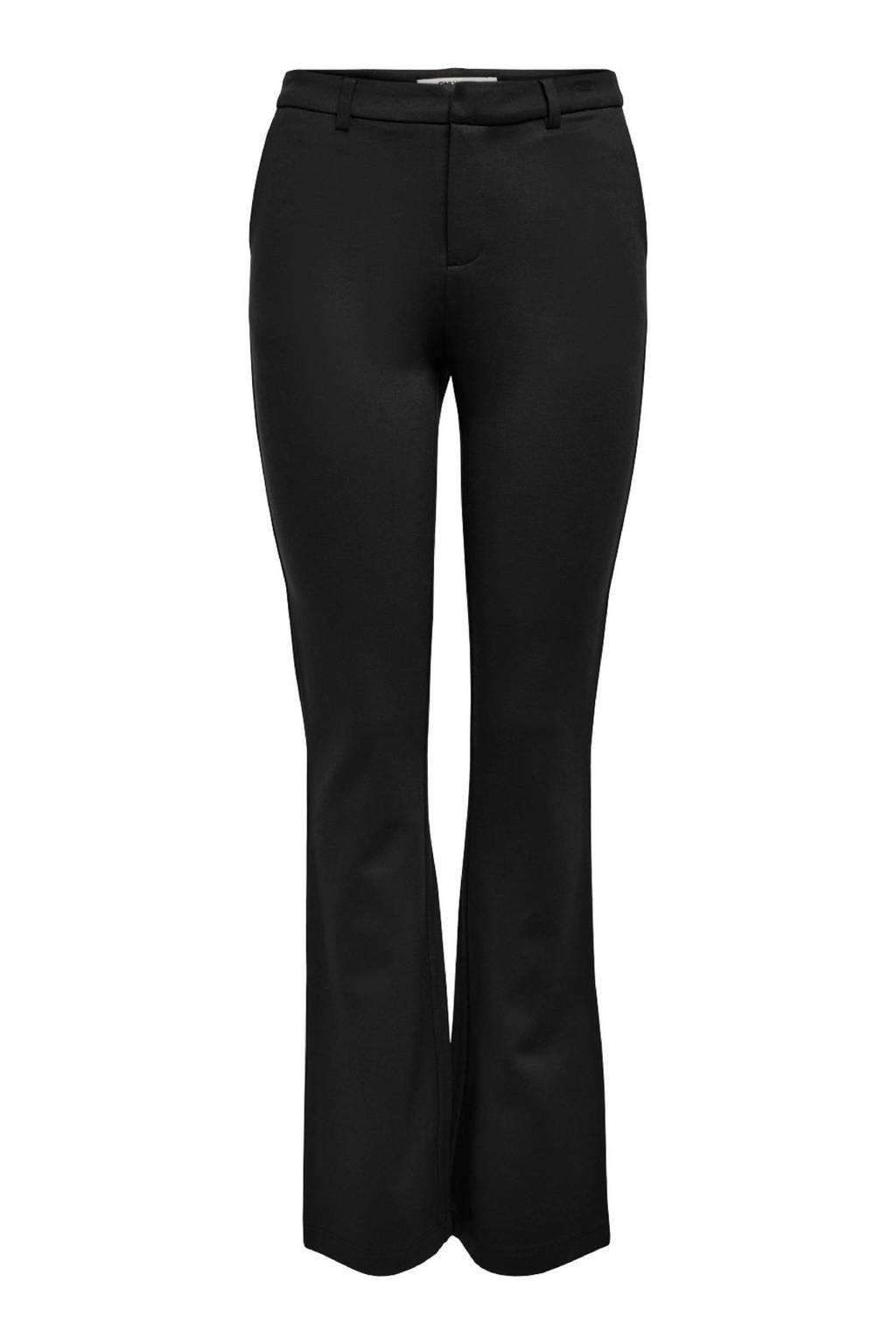 ONLY flared broek ONLELORA zwart, Zwart