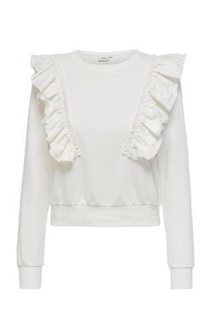 sweater ONLEMILIA van biologisch katoen ecru