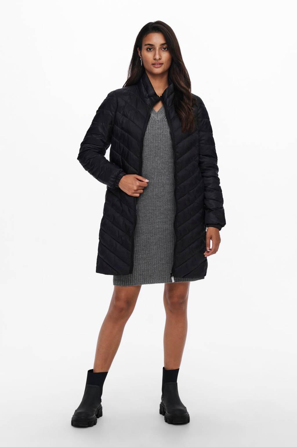 ONLY gewatteerde jas ONLNEWTAHOE zwart, Zwart