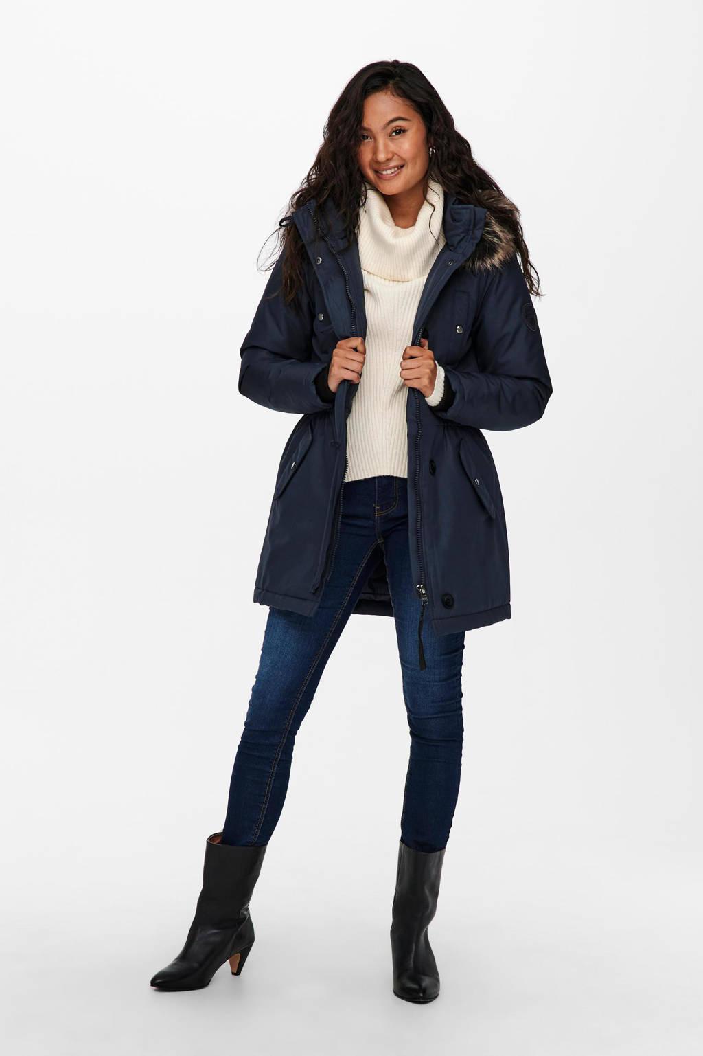 ONLY jas ONLIRIS donkerblauw, Donkerblauw